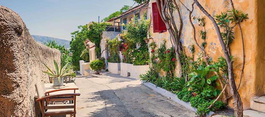 Calles hermosas en Atenas