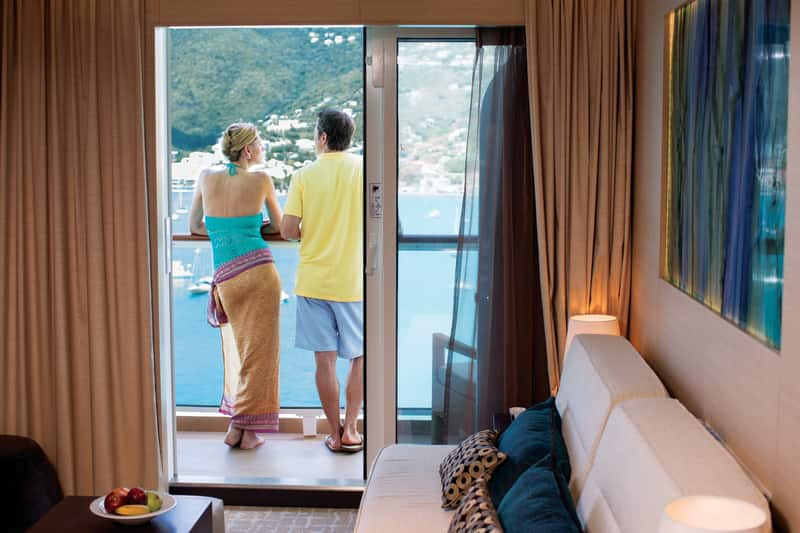 Enjoy the View from Your Balcony Stateroom on a Honeymoon Cruise