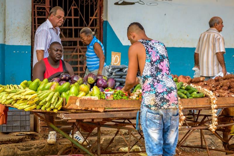 Cuban Produce Street Vendor